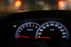 Detail of car dashboard auto Royalty Free Stock Image