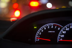 Detail of car dashboard auto Stock Photography
