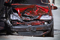 Detail of a car destroyed Stock Photography