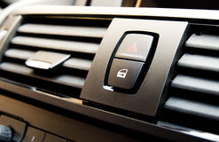 Detail of car locking system button and emergency Royalty Free Stock Images