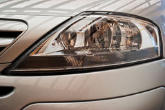 Detail of a car's headlight Royalty Free Stock Images