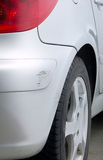 Detail of car with scratch Royalty Free Stock Photo