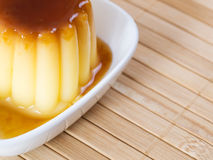 Detail of a caramel custard Stock Image