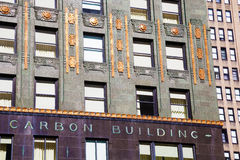Detail of Carbide and Carbon building in Chicago stock photos
