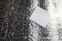 Detail of a cargo container packed in shiny foil thermal insulation. Royalty Free Stock Images