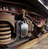 Detail from a cargo train Royalty Free Stock Images