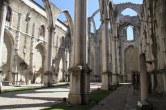 Detail of the Carmo church in Lisbon Royalty Free Stock Photography