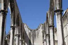 Detail of the Carmo church in Lisbon Royalty Free Stock Image