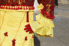 Detail of a carnival costume Royalty Free Stock Images