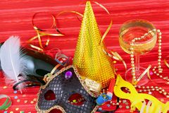 Detail of carnival mask Royalty Free Stock Images