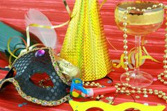 Detail of carnival mask Stock Photography