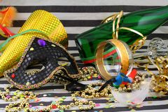 Detail of carnival with mask Royalty Free Stock Photography