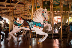 Detail of a carousel horse Stock Photography