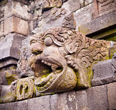 Detail of carved relief at Borobudur,  Java, Indonesia. Royalty Free Stock Photography