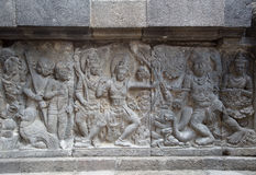 Detail of carved relief at Prambanan Stock Image