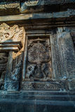 Detail of carved relief at Prambanan. Java, Indonesia. Prambanan or Candi Rara Jonggrang is a Hindu temple compound in Java, Indonesia, dedicated to the Trimurti royalty free stock images