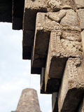Detail of Carving at Borobudur Temple in Indonesia Stock Image