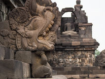 Detail of Carving at Borobudur Temple in Indonesia Stock Photo