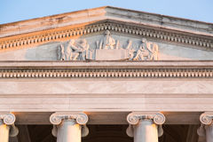 Detail of carving on front of Jefferson Memorial Stock Images