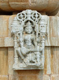Detail of carving on a Jain temple, Chittaurgarh, Rajasthan Stock Photography