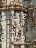 Detail of carvings on the Jain Tower, Chittaurgarh, Rajasthan Royalty Free Stock Photos