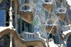 Detail of Casa Batllo Stock Photos