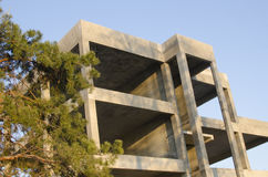 Detail of cast-concrete building Royalty Free Stock Images