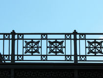 Detail of cast-iron fence Stock Image