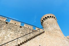 Detail castle Costa Brava. Tossa de Mar royalty free stock photography