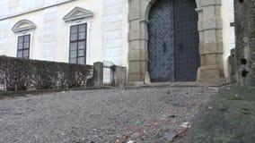 Detail of castle. In Czech Republic stock video
