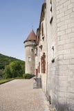 Detail of the Castle Kleron (fr.Château de Cléron). Region Fra Stock Photography