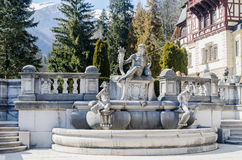 Detail of The Castle Peles, own by Regele Mihai (King Michael) of Romania, now works as museum. Sinaia. Romania Stock Images