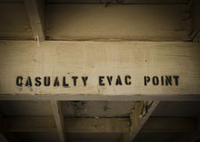 Casualty evacuation point sign Stock Photography