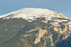 Detail of the Catalan Pyrenees, Cerdanya, Girona, Spain. Beautiful snowy mountain in the Catalan Pyrenees. Image taken from Baltarga, Bellver de Cerdanya (Girona Royalty Free Stock Photos