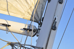 Detail of Catamaran Mast and Sail Stock Photos