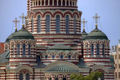 Detail of Cathedral of the Annunciation in Kharkov. Royalty Free Stock Photography