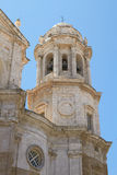 Detail of the Cathedral in Cadiz, Spain Royalty Free Stock Photos