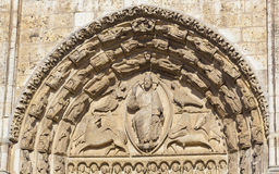 Detail of the cathedral of Chartres Royalty Free Stock Images