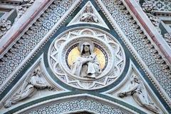Detail of Cathedral Church Duomo basilica di santa maria del fiore Stock Images