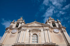 Detail of the cathedral city of Mdina, Malta europa. Detail of the cathedral city of Mdina, Malta Royalty Free Stock Image