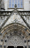 Detail of Cathedral entrance, Quimper, France Stock Photos