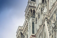 Detail of the cathedral in Florence. An example of perfection on the front facade of the cathedral in Florence Royalty Free Stock Photography