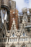 Detail of cathedral La Sagrada Familia in Barcelona. Royalty Free Stock Photos