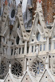 Detail of cathedral La Sagrada Familia in Barcelona. Stock Photos