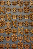 Baroque Malta Ornaments and gold crown. Detail of cathedral of Malta, the Ornaments is in Baroque style Royalty Free Stock Image