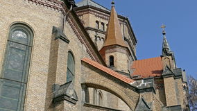 3.Detail of the Cathedral Millenium from Timisoara, Romania stock footage