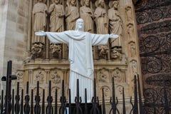 Detail of Cathedral Notre Dame de Paris Stock Photography