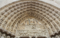 Detail of Cathedral Notre Dame de Paris Royalty Free Stock Photography