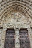 Detail of Cathedral Notre Dame de Paris Stock Photos