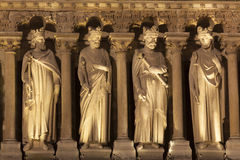 Detail in the Cathedral of Notre Dame, Paris Royalty Free Stock Images